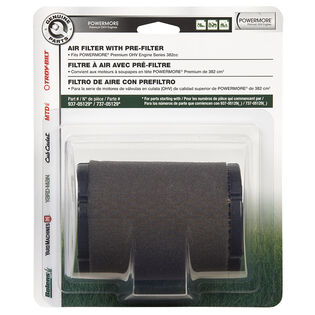 AIR FILTER FOR POWERMORE 382 and 479 CC ENGINES