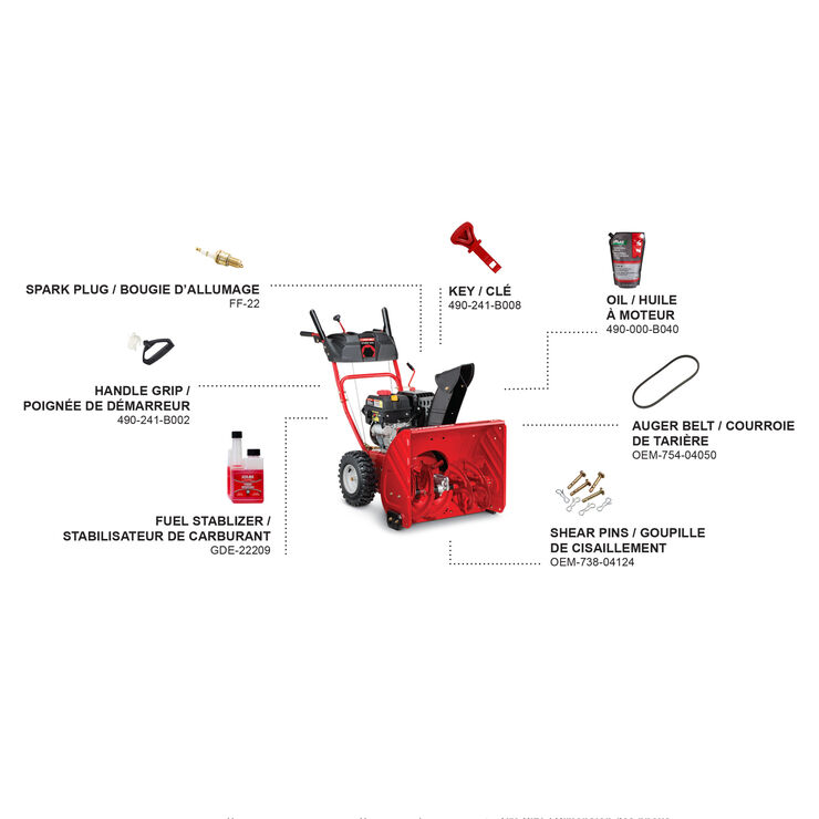 24-in. 208cc 2-Stage Gas Snow Blower