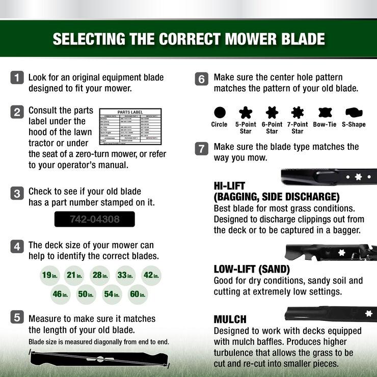 2-in-1 Blade for 42-inch Cutting Decks
