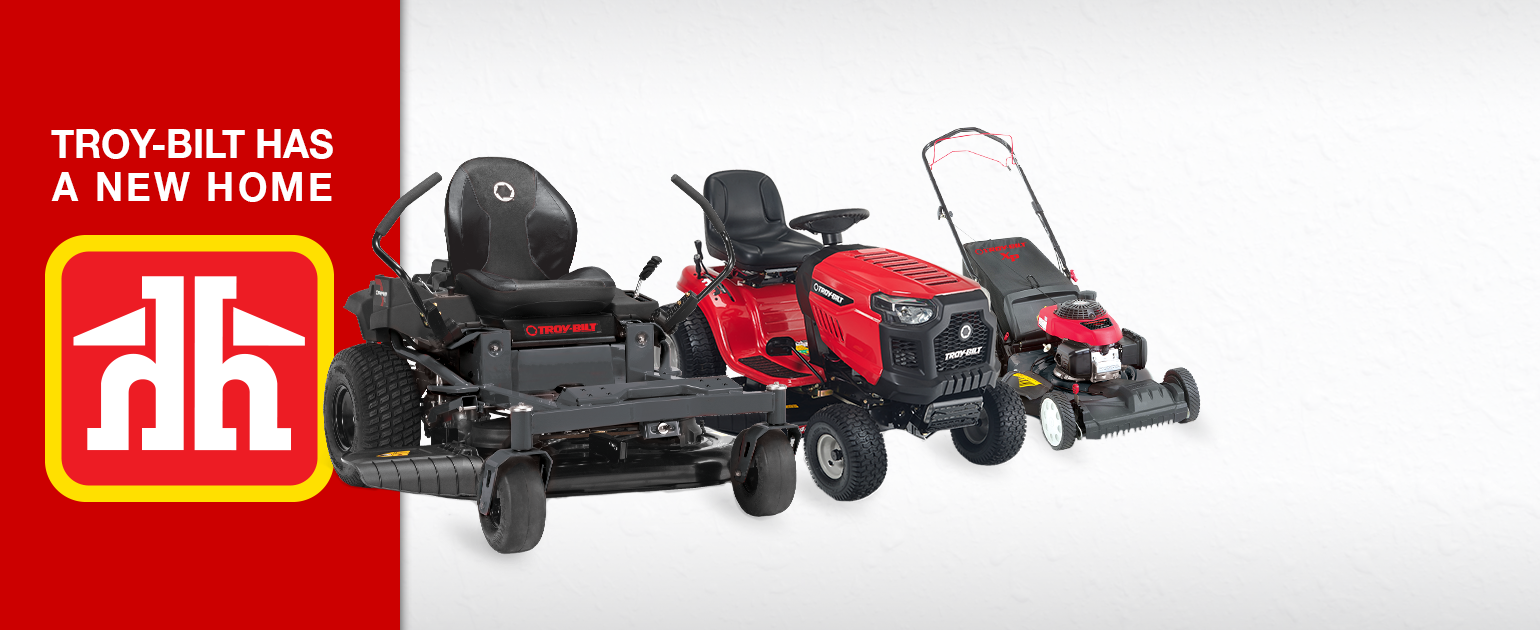 home hardware banner of available troy-bilt products