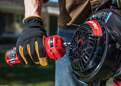 persousing JumpStart tool to start a leaf blower